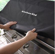 "Outdoor Cover for 48"" Freestanding Grill with Side Burner KFRU488TSS & KFRU488VSS"