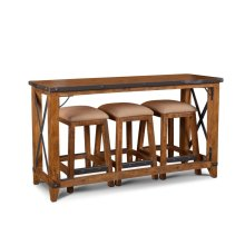 HH-8365-4PC  4 Piece Counter Dining SetConsole with Stools