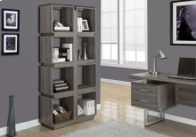 "BOOKCASE - 71""H / DARK TAUPE"