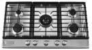 36-Inch 5 Burner Gas Cooktop, Architect® Series II - Stainless Steel Product Image