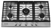 36-Inch 5 Burner Gas Cooktop, Architect® Series II - Stainless Steel