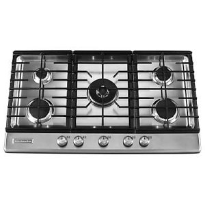 Kitchenaid36-Inch 5 Burner Gas Cooktop, Architect(R) Series II - Stainless Steel