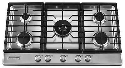 Kitchenaid. Kitchenaid36 Inch 5 Burner Gas Cooktop, Architect(r) Series Ii    Stainless ?