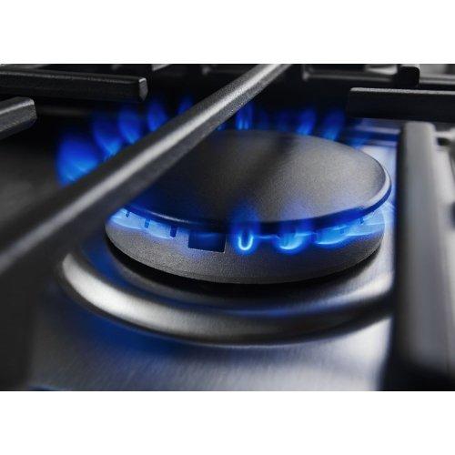 30-Inch 4-Burner Dual Fuel Downdraft Slide-In Range - Stainless Steel