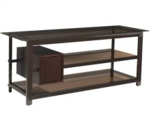 """Coffee Audio Video Stand Tempered-glass shelves - fits AV components and TVs up to 65"""""""