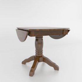 Drop leaf table with pedestal