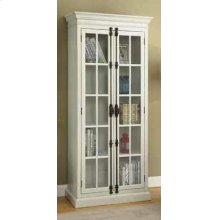 Traditional Antique White Tall Cabinet