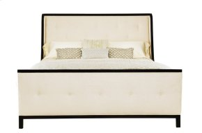 Queen-Sized Jet Set Upholstered Bed in Caviar (356)