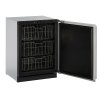"""U-Line Modular 3000 Series 24"""" Freezer With Stainless Solid Finish And Field Reversible Door Swing (115 Volts / 60 Hz)"""