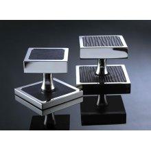 Single Duplex Square Deco Switch Plate - Polished Nickel