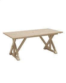 """T203 Wide Dining Table with 2"""" Umbrella Hole"""