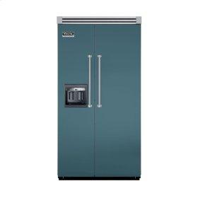 "Iridescent Blue 42"" Side-by-Side Refrigerator/Freezer with Dispenser - VISB (Integrated Installation)"