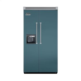 "Iridescent Blue 42"" Side-by-Side Refrigerator/Freezer with Dispenser - VISB (Integrated Installation)"