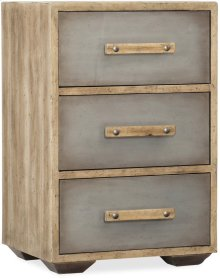 Urban Elevation Three-Drawer Nightstand