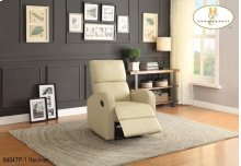 Recliner Taupe Leatherette