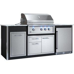 "XO APPLIANCEAppliance Ready Pre-Assembled 36"" Designer Island Black"