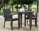 Atlantis 3 PC Armchair Dining Bistro Group Product Image