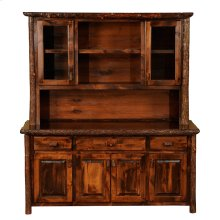 "Buffet & Hutch -75"" Rustic Maple"