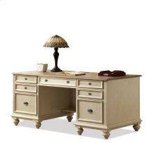 Coventry Executive Desk Weathered Driftwood/Dover White finish