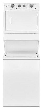 3.5 cu.ft Long Vent Gas Stacked Laundry Center 9 Wash cycles and Wrinkle Shield Product Image