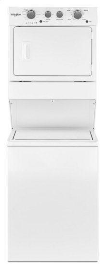 3.5 cu.ft Long Vent Gas Stacked Laundry Center 9 Wash cycles and Wrinkle Shield