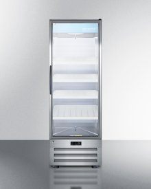 14 CU.FT. Pharmaceutical All-refrigerator With A Glass Door, Lock, Digital Thermostat, and A Stainless Steel Interior and Exterior Cabinet
