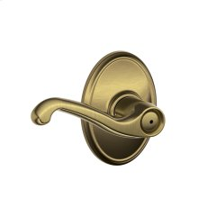 Flair Lever with Wakefield trim Bed & Bath Lock - Antique Brass
