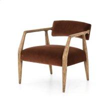 Burnt Auburn Velvet Cover Tyler Arm Chair