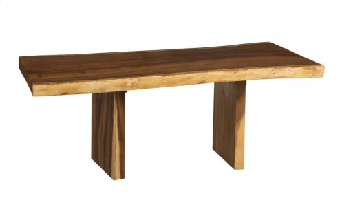 Live Edge Dining Table, Chamcha Wood Freeform, Wood Legs