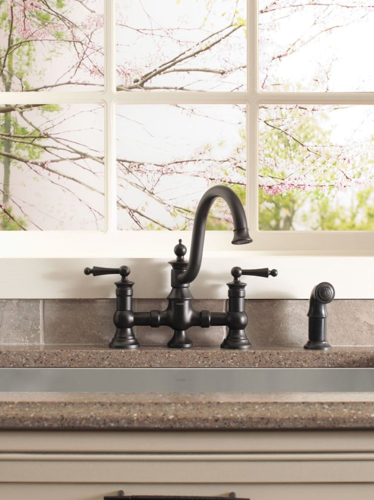 Hidden · Additional Waterhill Wrought Iron Two Handle High Arc Kitchen  Faucet
