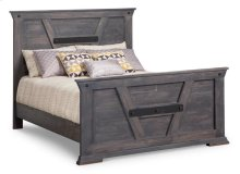 Algoma Double Bed with 32'' High Footboard