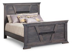 Algoma Queen Bed with 32'' High Footboard
