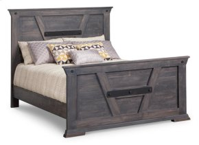 Algoma King Bed with 32'' High Footboard