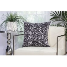 "Outdoor Pillow As524 Black 20"" X 20"" Throw Pillow"