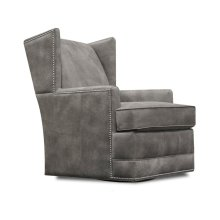 Leather Olive Swivel Chair with Nails 4769ALN