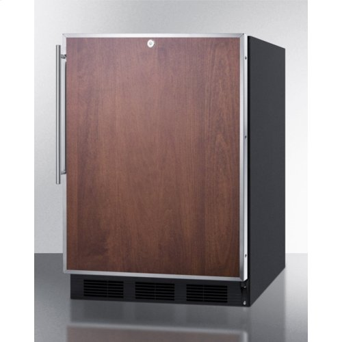 ADA Compliant Built-in Undercounter All-refrigerator for General Purpose Use, Auto Defrost W/ss Door Frame for Panel Inserts, Lock, and Black Cabinet