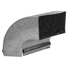90-degree Elbow Transition for Range Hoods and Bath Ventilation Fans