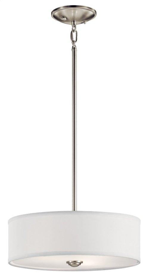 Shailene 3 Light Convertible Pendant Brushed Nickel