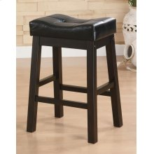 Transitional Black Counter-height Upholstered Chair