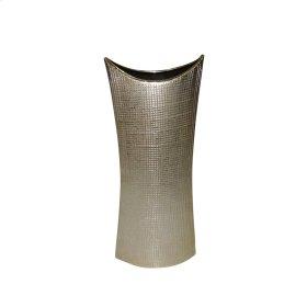 """Ceramic 19.5"""" Mermaid's Purse Vase, Gold"""