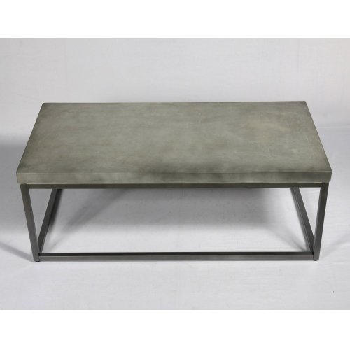 Emerald Home T375-00 Onyx Coffee Table, Aged Concrete
