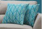 "PILLOW - 18""X 18"" / TEAL GEOMETRIC DESIGN / 2PCS Product Image"