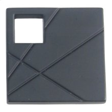 Modernist Right Square Knob 1 1/2 Inch - Matte Black