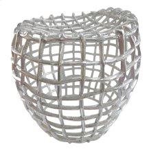 Birdcage Stool Silver