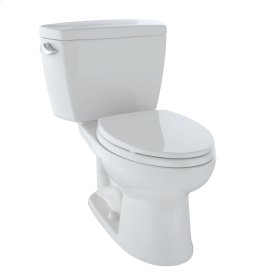 Eco Drake® Two-Piece Toilet, 1.28 GPF, ADA Compliant, Elongated Bowl - Colonial White