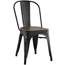 Promenade Bamboo Side Chair in Black