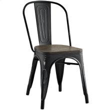Promenade Bamboo Side Chair in Black