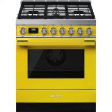 """Portofino Pro-Style All-Gas Range, Yellow, 30"""" X 25"""""""