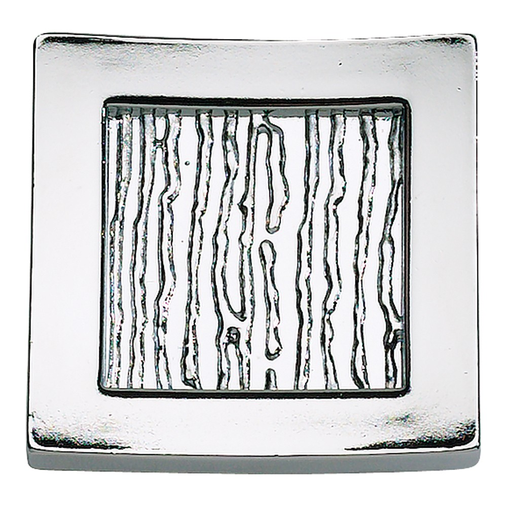 Primitive Square Knob 1 1/2 Inch - Polished Chrome