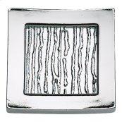 Primitive Square Knob 1 1/2 Inch - Polished Chrome